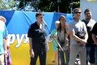 Надежда Савченко на сцене митинга в Одессе