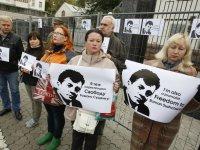 ФОТОрепортаж: Митинг в поддержку Романа Сущенко у посольства РФ в Киеве