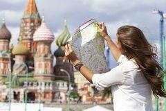 Туристка в Москве