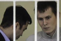 Евгений Ерофеев и Александр Александров во время заседания суда в Киеве
