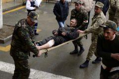 Раненные участники конфликта в Нагорном Карабахе