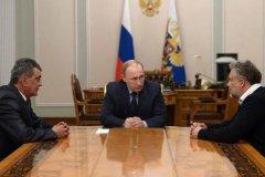 Встреча Владимира Путина с Алексеем Чалым и Сергеем Меняйло 14 апреля 2014 года