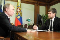 Владимир Путин и Рамзан Кадыров