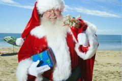 Дед Мороз на пляже