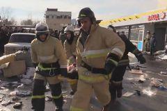 Спасатели до сих пор разбирают завалы сгоревшего ТЦ