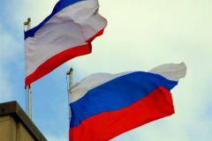 Флаги России и Крыма