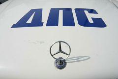 Столкнулись Audi и Mercedes