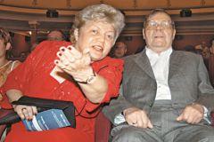 Михаил Пуговкин с женой Ириной Лавровой