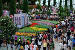 Туристы в Сингапуре