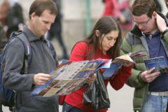 Иностранные туристы в Москве