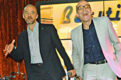 Возмужавшие «Электроники» – Юрий и Владимир Торсуевы – пообещали отдать гонорар с новогоднего концерта в фонд «Линия жизни»