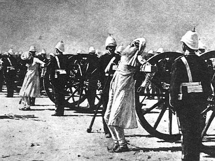 Расправа над зачинщиками восстания в Индии (1854 г.)