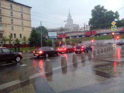 Последствия ливня в Москве 20 июня