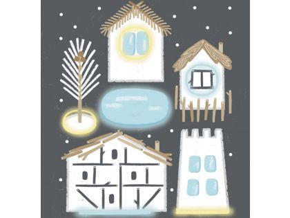 Миниатюрный снежный городок