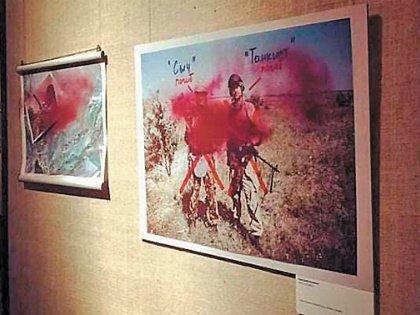 Вслед за историей со снимками Джока Стёрджеса облили краской работы Александра Васюковича в Сахаровском центре