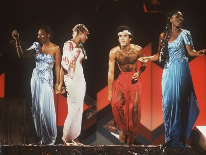 Boney M. во время выступления в Берлине (1981 г.)