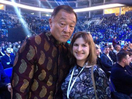 Кэри-Хироюки Тагава и наш корреспондент
