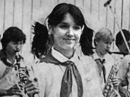 Анна Нетребко в юности