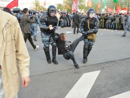Задержания на «Марше миллионов» 6 мая 2012 года