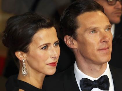 Британский актер Бенедикт Камбербэтч и его супруга Софи Хантер