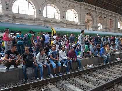 Беженцы с Ближнего Востока на вокзале Будапешта