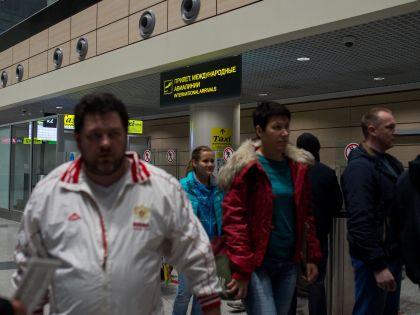 Прибывшие из Египта российские туристы