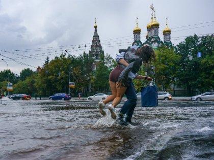 Этим летом Москва буквально утонула во время ливневых дождей