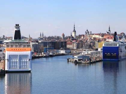 Порт в Таллине расположен неподалеку от Старого города