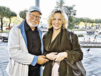 Янис Стрейч с актрисой Еленой Яковлевой