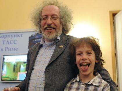 Алексей Венедиктов с сыном