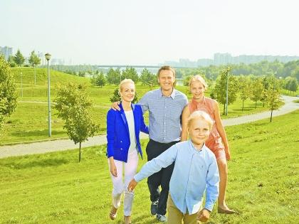 Алексей Навальный с семьей