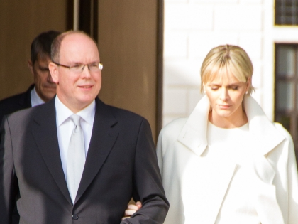 Альбер II и его жена княгиня Шарлин