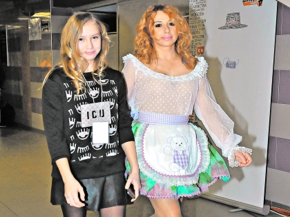 Алена Апина с дочерью Ксюшей