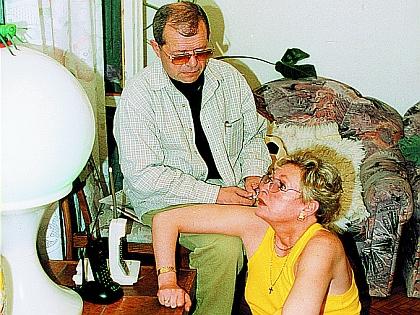 Аркадий Арканов с гражданской женой