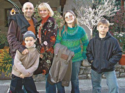 Валерия с мужем Иосифом Пригожиным и детьми