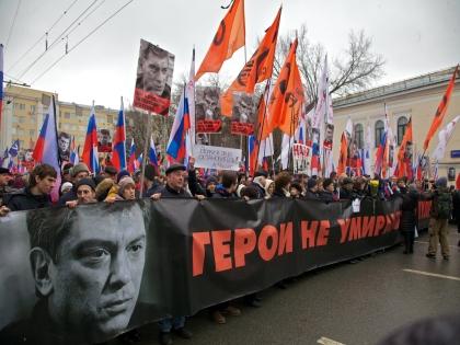 Борис Немцов был убит 27 февраля на Большом Москворецком мосту
