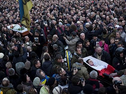 Похороны убитых на Майдане