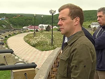 Медведев совершил рабочую поездку на Курильские острова