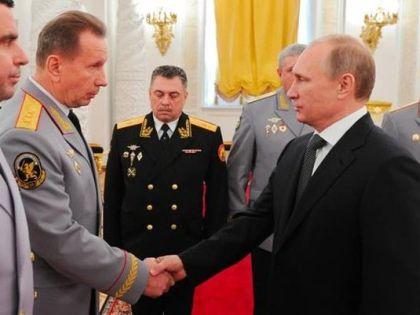 Виктор Золотов и Владимир Путин
