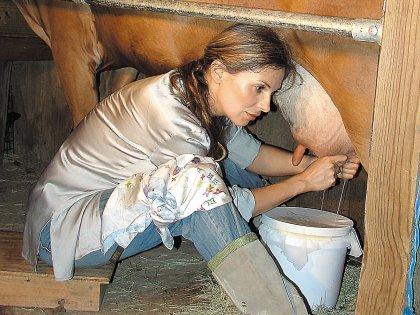 Лариса Черникова на своей ферме в США