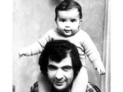 Илья Олейников с сыном Денисом
