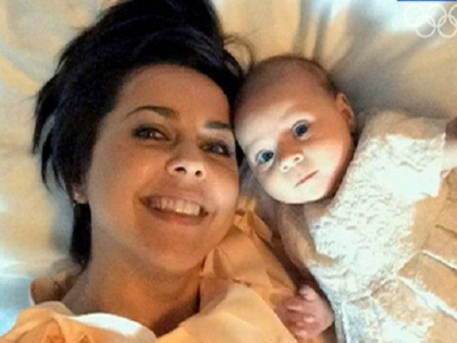 Ольга Шелест с дочерью Музой