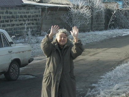 Жительница Донбасса