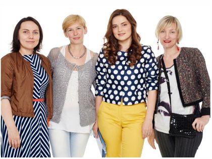 Евгения с командой стилистов