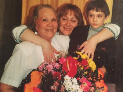 Римма Маркова с семьей