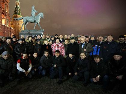 Первое собрание членов «Антимайдана» на Манежной площади в Москве 15 января