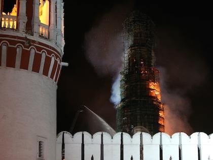 Локализовать пожар удалось только к полуночи