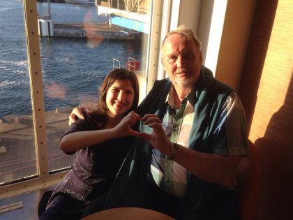 Янне и автор на пароме в Хельсингер