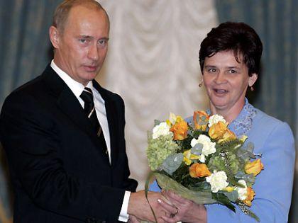 Владимир Путин и Нина Брусникова