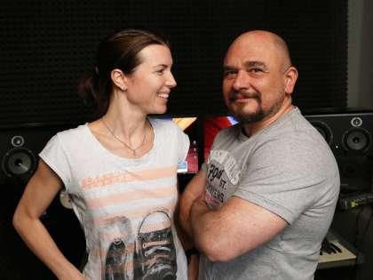 Трофимов с женой Анастасией